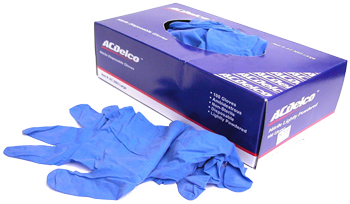 AC Delco Blue Nitrile Gloves