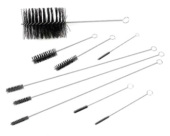 Brush kit for cleaning a motor engine